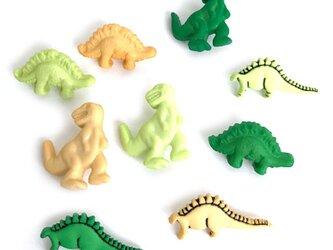 ボタンガローア9個-ダイナソー恐竜セット B-0702の画像