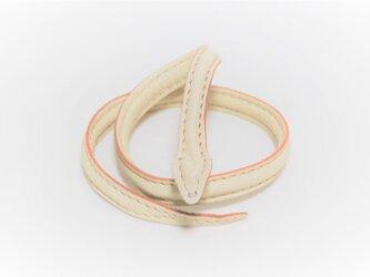 革の蛇ブレスレット/オブジェ (白:ホワイト)の画像