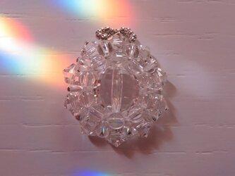 クリスタルクォーツ(天然水晶)・花形ペンダントトップA(ptflcq00)の画像