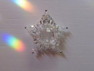 クリスタルクォーツ(天然水晶)・星型ペンダントトップC(ptrscq00)の画像