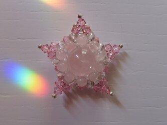 ローズクォーツ・星型ペンダントトップC(ptrsrq01)の画像
