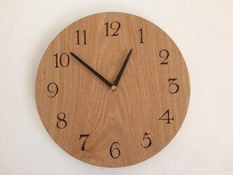 タモの木の時計LL ※数量限定品の画像