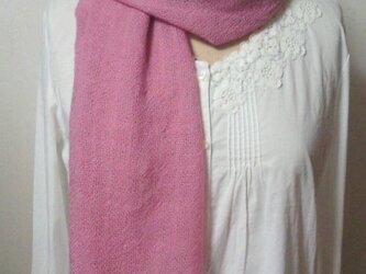 【特別価格!!】ウールピンクのマフラーの画像