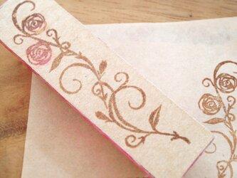 Rose ivy【消しはん】薔薇のツタのスタンプの画像
