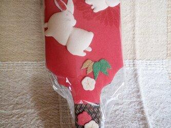 羽子板 2匹のウサギの画像