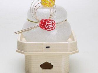 ムクガラス鏡餅(紅白梅)の画像