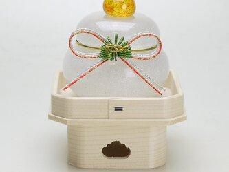 ムクガラス鏡餅(結び松)の画像