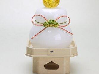 吹きガラス鏡餅(結び松)の画像