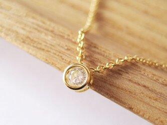 天然ダイヤモンドのネックレス [3mm]14KGFの画像