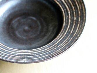 伊豆土リムストライプの大鉢(黒釉)の画像