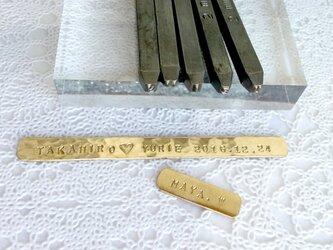 オプション・エッチングパネル】 台座加工・真鍮プレート刻印(15文字以内)の画像