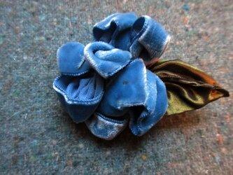 コバルトブルー花のブローチ&チョーカーの画像