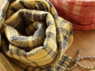 【手織り】カシミヤ×ウールマフラー#04の画像