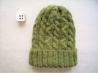 ニット帽子b[モスグリーン]の画像