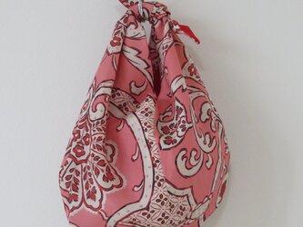 ピンク系着物裏のあずま袋の画像