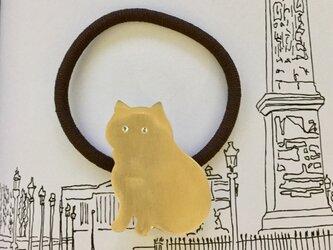 おすわりネコ ヘアゴムの画像