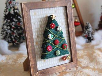 一点モノ! USA生地使用・立体クリスマスツリーのフレーム(1)の画像