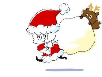 クリスマスポストカードの画像