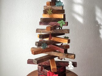 "【monokli.woody】""warm christmas"" ウッドクリスマスツリーの画像"