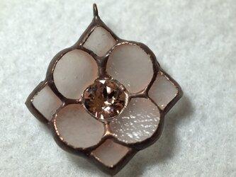 花形 ネックレス(ヴィンテージローズ)の画像