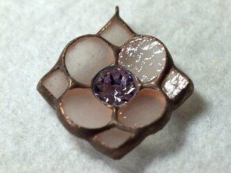 花形 ネックレス(バイオレット)の画像