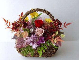 Autumn  basket arrangeの画像