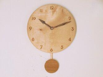 振り子時計 楓材5の画像