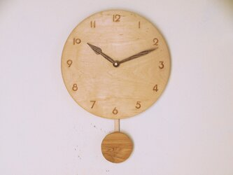 振り子時計 楓材6の画像