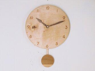 振り子時計 楓材7の画像
