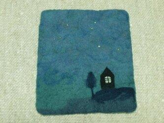 静かな夜のフェルトフリーマットの画像