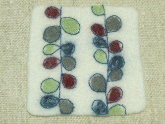 丸い葉のフェルトフリーマットの画像
