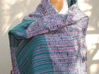 手織ストールaの画像