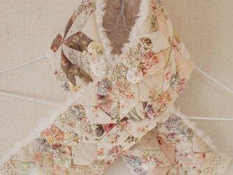 お花畑のキルトマフラー ピンク  Type.90の画像
