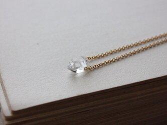 k14gf-ダイヤモンドクォーツの原石ネックレスの画像