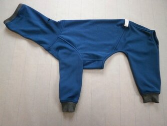 犬服 [受注生産]ウィペット用フルスーツ ネイビーブルーの画像