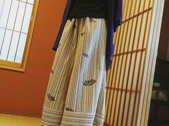洗える着物でリメイク☆ガウチョパンツの画像