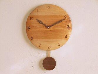 振り子時計 カバ材1の画像