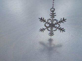 雪の結晶 アシンメトリーピアスセットの画像