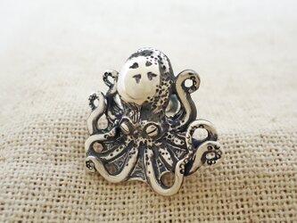 タコのピアス 銀製(シルバー925)の画像