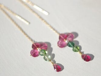 K18 Tourmaline cross*Pierceの画像
