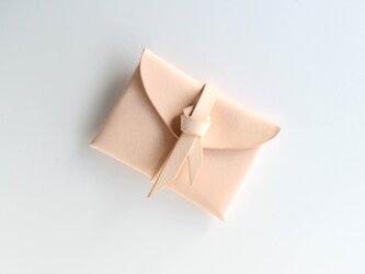 ori card case / 折りカードケース #beige / ベージュの画像
