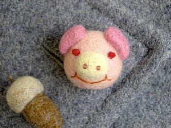 ピンバッジ  ぶた〈ピンク〉の画像