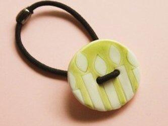 磁器ボタンゴム 丸 キャンドル ライムの画像