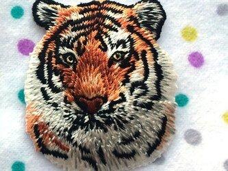 アップリケワッペン タイガーヘッド 985の画像