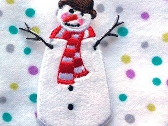 アップリケワッペン スノーマン 雪だるま 979の画像