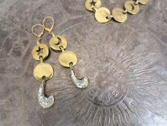 ヴィンテージピアス スター&ムーン vintage earrings star moon <PE-STMN1>の画像