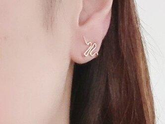 【K14GF】イヤリング*Little wave earring or pierceの画像