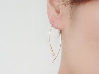 【K14GF】Claw carb pearl pierceの画像