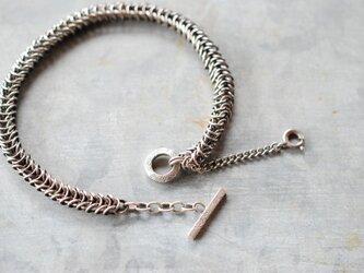 シルバーチェーンブレスレット-snakeの画像