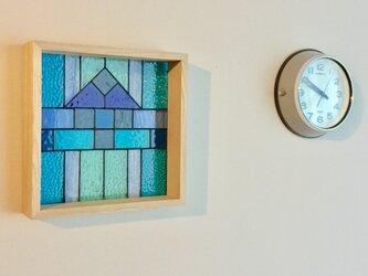 【送料無料】パネル・Art Déco・2(ブルー)の画像